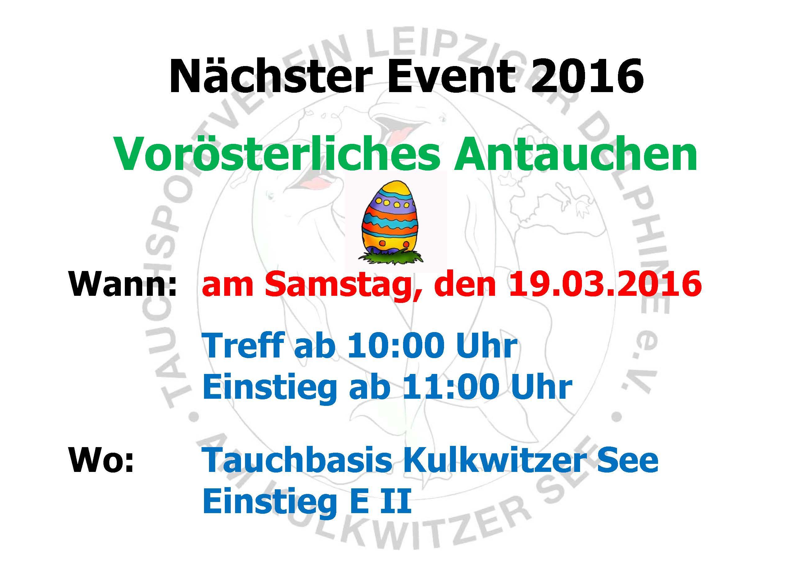 2016 01 01 Nächstes Event Delphine Ostertauchen 2016