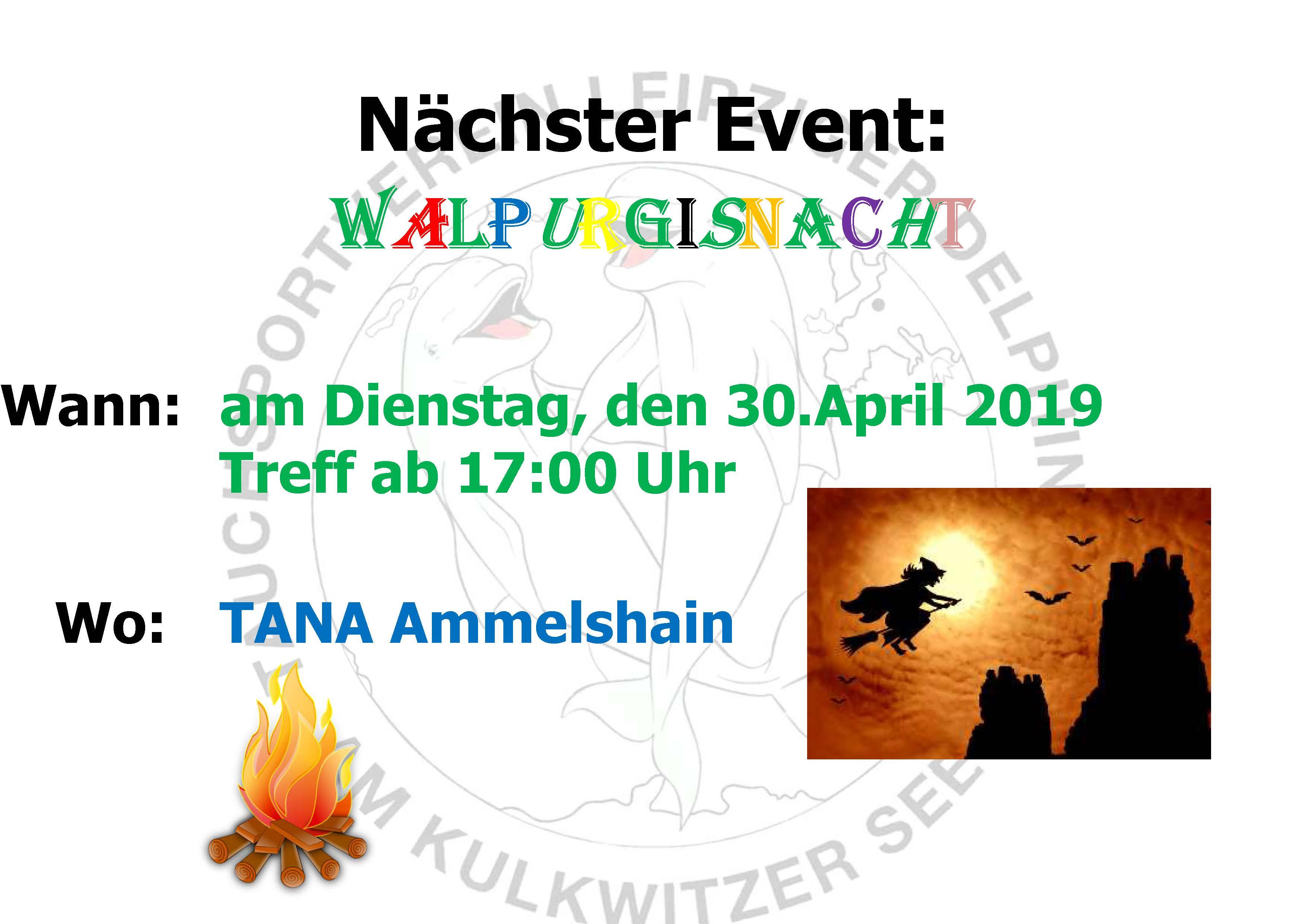 2019 03 19 Nächster Event Delphine Walpurgisnacht 2019